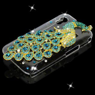 Peacock Crystal Clear Back Case Cover For Samsung Galaxy Ace S5830