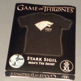 HBOs Game of Thrones Stark Direwolf Sigil T Shirt Mens Extra Large XL