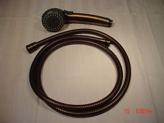 Oil Rubbed Bronze Hand Held Shower Set 69 Hose & wand2