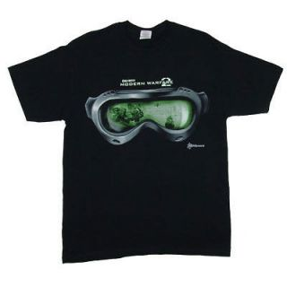 CALL OF DUTY video game T Shirt MENS MODERN WARFARE 2 NIGHTVISION