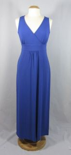 EILEEN FISHER NWT $198 Viscose Jersey Maxi Dress IRIS