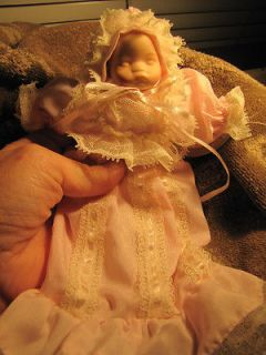 Pretty 7 inch Porcelain Doll in Pink Gown (Sweet n Petite by Delton