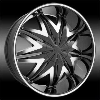 SINGLE WHEEL 24 inch Krystal Black Wheels Rims 5x115 +15 and a 275.25