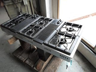 ... Jenn Air Downdraft Cooktop Gas Black With Stainless Trim Stove ...