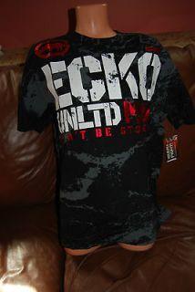 New Mens MMA UFC Mark Ecko Unltd Black Blockade Tee T Shirt 3XL