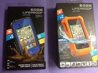 Lifeproof iPhone 4/4S Blue Life Proof case + Lifejacket both New In
