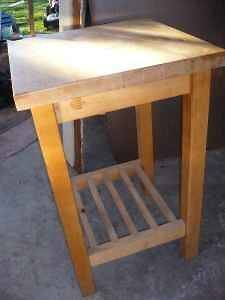 used butcher block table in Home & Garden