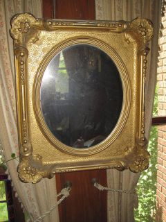 antique gold leaf mirror in Decorative Arts