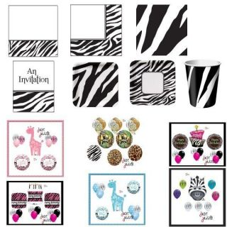 Zebra Stripe Jungle Birthday Party Baby Shower Supplies You Pick