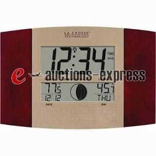 La Crosse Technology Atomic Digital Wall Clock   Red, Model WS 8117U