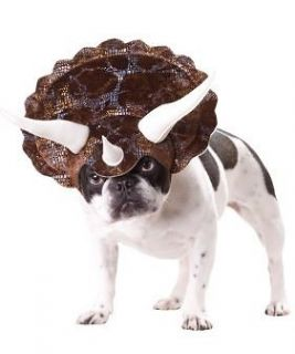 Pet Dog Funny ANIMAL PLANET Triceratops Dinosaur Costume Headpiece