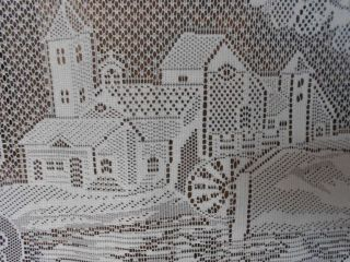 Full moon watermill French Vintage Lace curtain drape window treatment