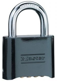 NEW Master Lock 178D Set Your Own Combination Padlock Die Cast Black