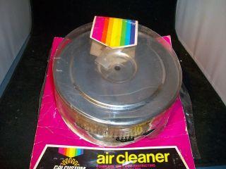 1042 ORIGINAL CAL CUSTOM 6 3/8 CUSTOM LOW PROFILE CHROME AIR CLEANER