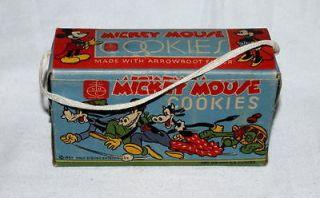 RARE EX DISNEY1937 NABISCO MICKEY MOUSE COOKIES BOX+ORIGINAL