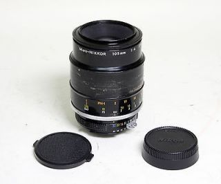 Nikon Micro Nikkor 105mm f4 Camera Lens 14   made in JAPAN   No