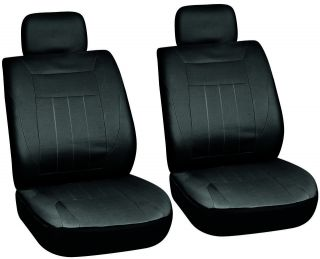 Piece Solid Black Front Car Seat Cover Set Bucket Chairs Free