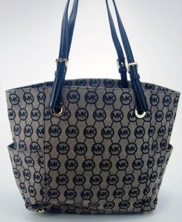 Newly listed Michael Kors Womens Handbag Black Beige Jacquard Monogram