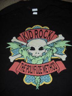 KID ROCK The Polyfuze Method Skull T Shirt **NEW