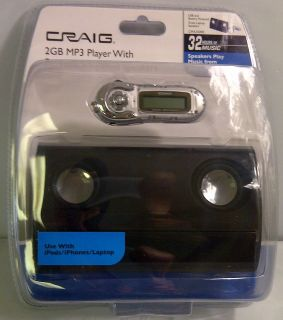 CRAIG 2GB  PLAYER WITH PORTABLE AMPLIFIED SPEAKERS MUSIC FROM IPODS