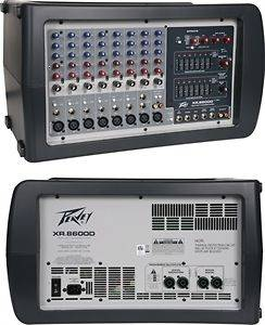 PEAVEY XR8600D Pro Powered Mixer w/pair of 600 Watt amplifiers, dual