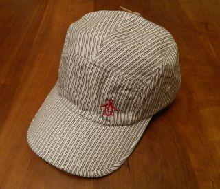 NEW GENUINE Original Penguin Mens Striped Baseball Cap / Hat   RRP £