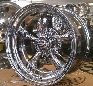 American Racing TORQUE THRUST II Wheels Torq 17x8 CHROME PVD Chevy