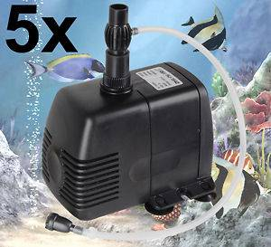 5X 370GPH Submersible Water Pump Fountain Pond Aquarium Freshwater