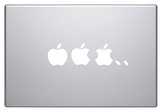 Apple Logo Vinyl Sticker Decal decor ipad MacBook Pro Air laptop