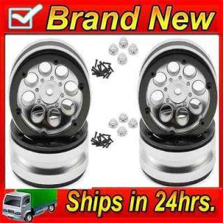 Axial AX8088 8 Hole 1.9 Beadlock Wheels Satin Chrome (4) SCX10