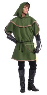 Green Sherwood Forest Archer Tunic Adult Costume Standard Size NEW