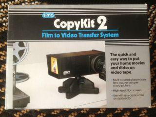 SIMA CopyKit 2 SVC 2 Film to Video Copy Transfer System Copy Kit