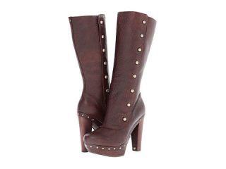 Ugg Australia COSIMA TALL Chocolate Brown Leather High Heel Women