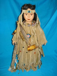 18 porcelain native american indian doll ASHLEY BELLE