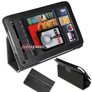 Premium Leather Case Cover Bag Stand Pouch For  Kindle Fire