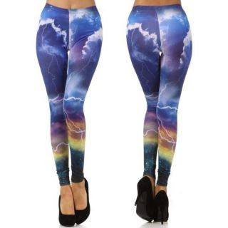 New  POPULAR Trend THUNDER GALAXY Printed Fashion Leggings Pants
