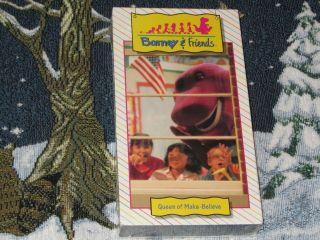 BARNEY & FRIENDS TIME LIFE *QUEEN OF MAKE BELIEVE* VHS VIDEO #12 HTF