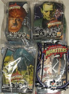 Universal Studios Monsters Burger King Figures Complete Set of 4 NEW
