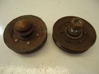 Montgomery Ward Gilson 15 garden tractor mule drive pulleys