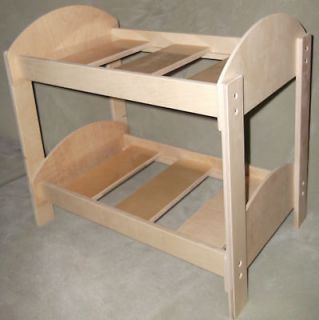 American made doll bed fits 18 girl dolls handcrafted in Vermont bunk