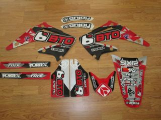 2002 2008 HONDA CR 125 250 BTO SPORTS Motocross Graphics DIRT BIKE