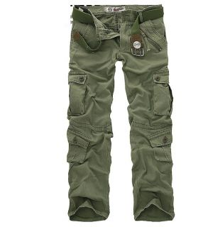 MENS CASUAL MILITARY ARMY CARGO CAMO COMBAT WORK PANTS TROUSERS SIZE