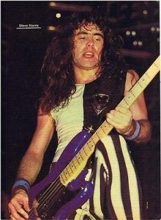 HARRIS PINUP MAGAZINE PRINT AD vtg 80s Metal IRON MAIDEN Bass Player