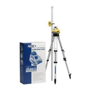 Spectra Precision Laser Level with Tripod and Inches Rod LL300 2 NEW