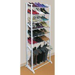 FREESTANDING SHOE BOOT ORGANIZER SELF SHELF STANDING RACK VALET FOR