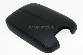 2008 2012 HONDA ACCORD BLACK REAL LEATHER CONSOLE LID ARMREST COVER