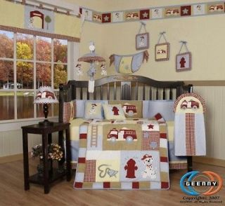 Newly listed Boutique Baby Boy Fire Truck 13PCS CRIB BEDDING SET
