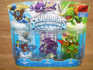 Spyros Adventure Video Game Figures LIGHTNING ROD/CYNDER/ZOO​K