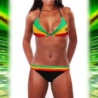 Lion Of Judah Rasta Reggae Roots Bikini Rasta Jamaica Bahamas Hawaii