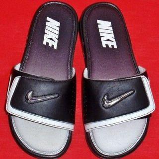 NEW Mens NIKE COMFORT SLIDE 2 Black/White Flip Flops Sandals Slip On